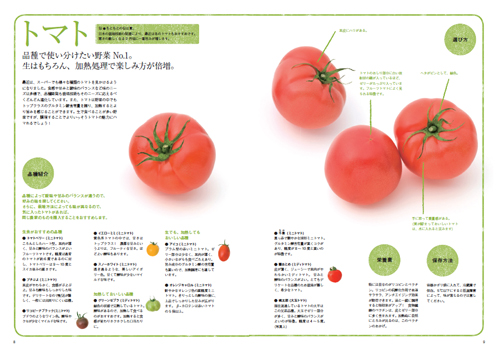農家の台所レシピ本トマトのページ