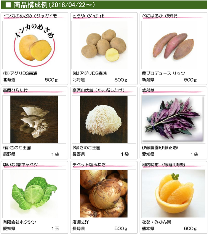 ■商品構成例