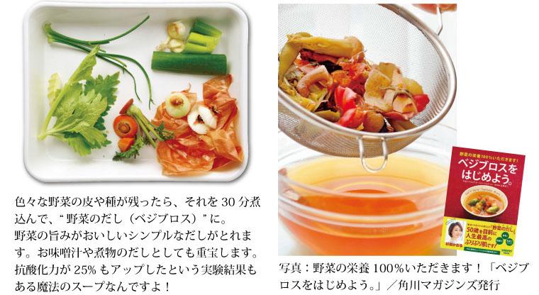 三竹さんの野菜はベジブロスに
