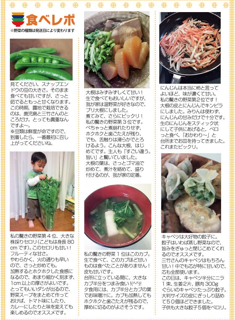 三竹さんのあまっ娘野菜セットレシピ