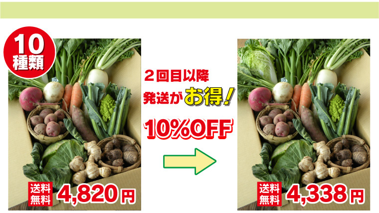 三竹さんのあまっ娘野菜セット10種類