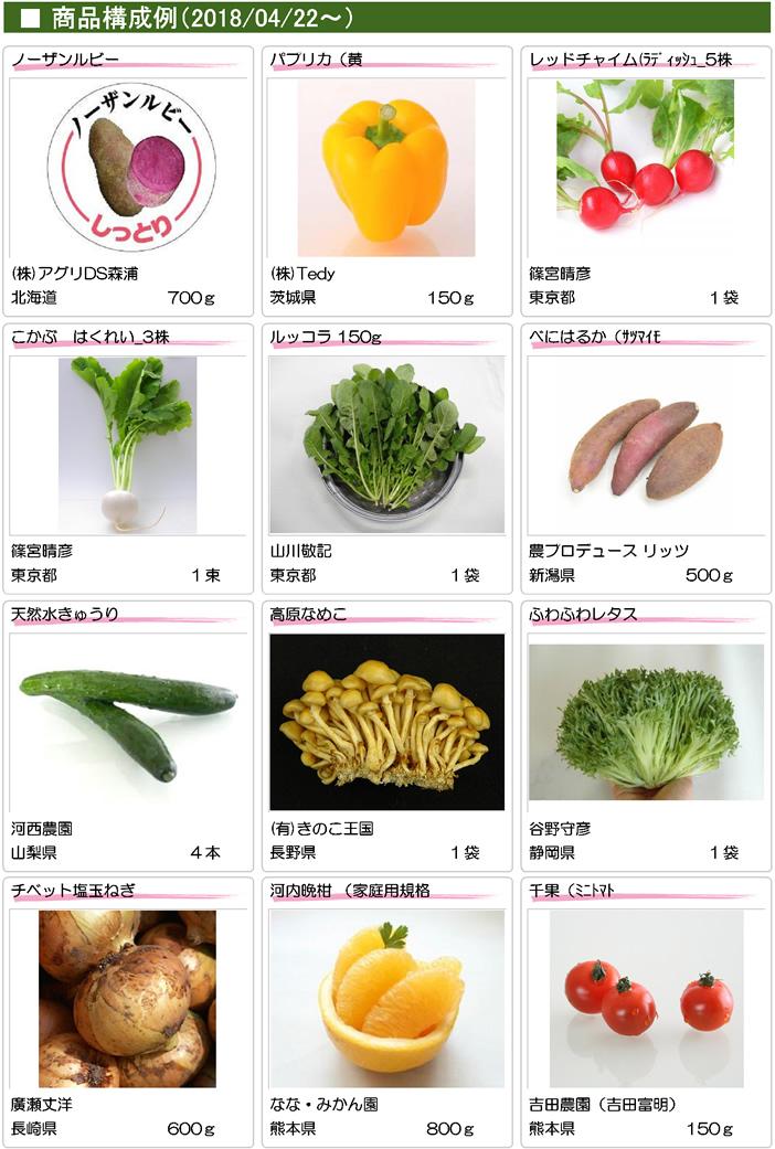 特選野菜セット 商品構成例