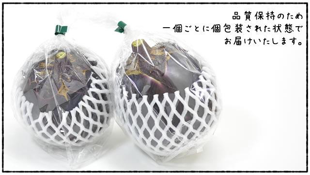 賀茂茄子 一つずつ丁寧に包装