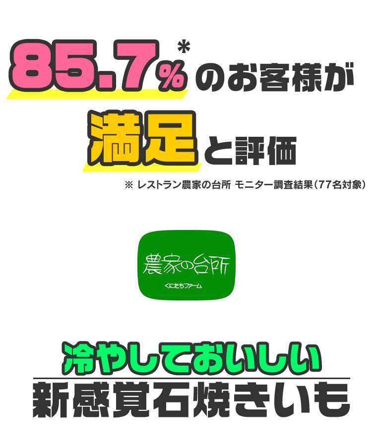 85.7%のお客様が満足と評価