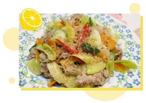 豚肉と野菜の塩レモン炒め物 料理画像
