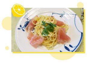 生ハムの塩レモンパスタ 料理画像