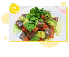 鰹とアボガドの塩レモン漬サラダ 料理画像