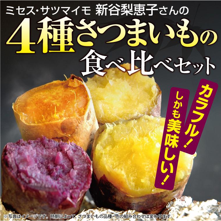 新谷梨恵子さんの色4種サツマイモの食べ比べセット