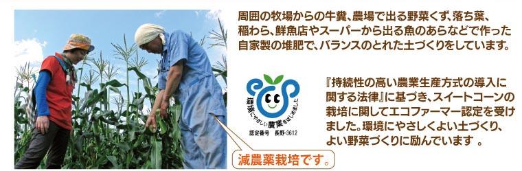 減農薬栽培です。